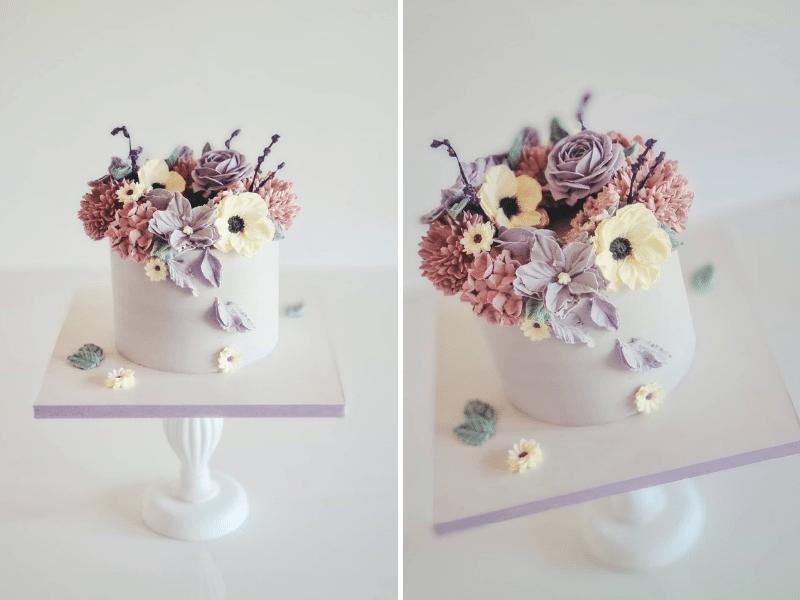 Kwiaty z kremu maślanego