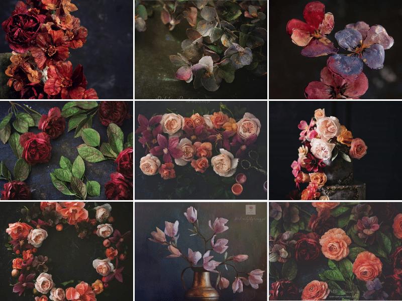 Studium modelowania kwiatów z papieru jadalnego