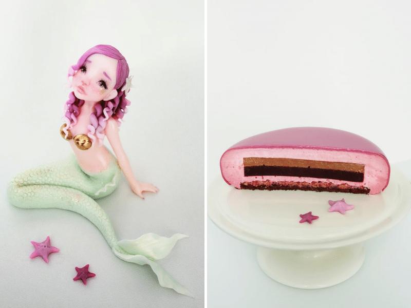Modelowanie figurki i składanie ciasta deserowego