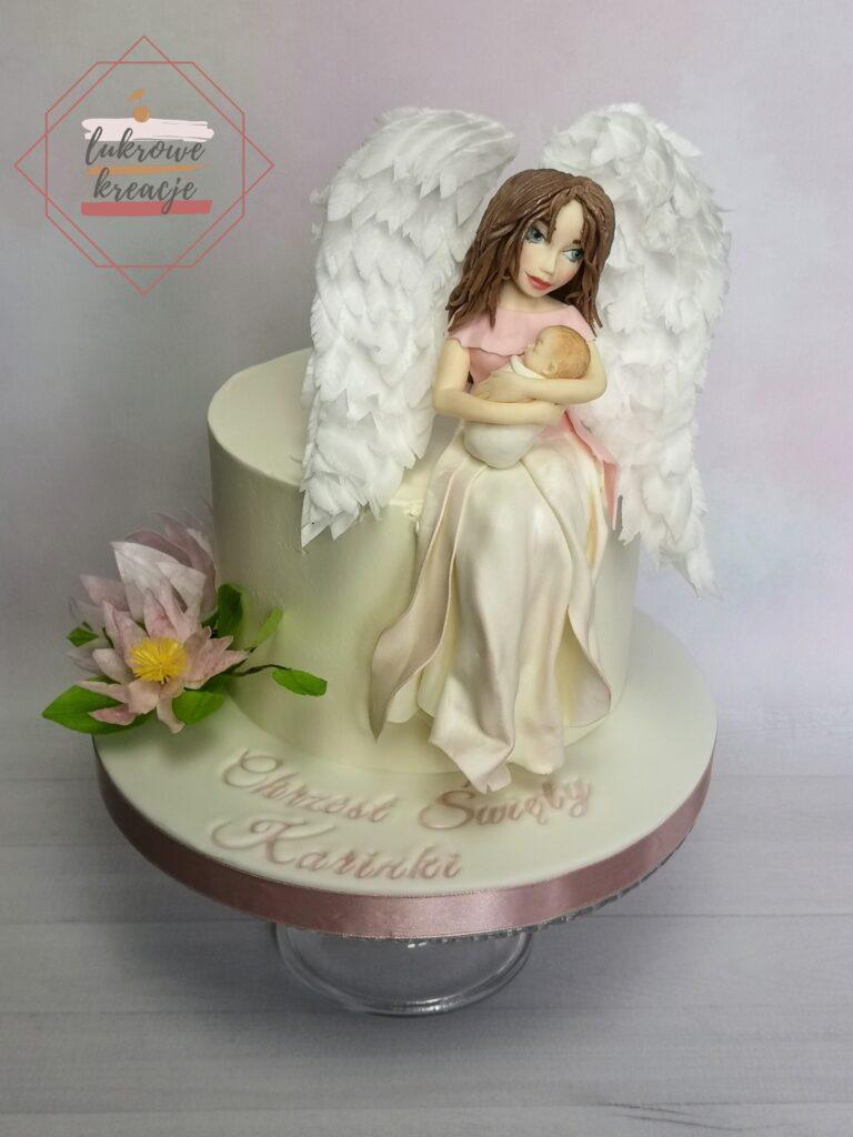 Tort na chrzest dla dziewczynki