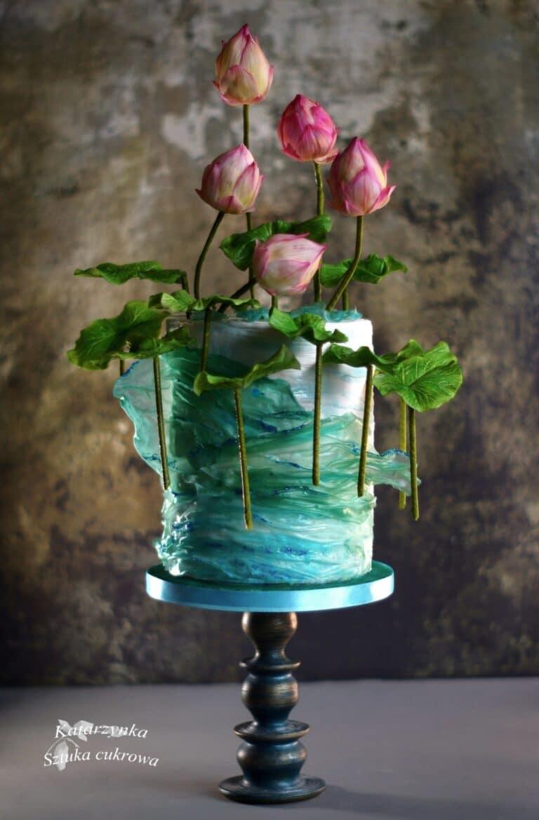 Kwiaty lotosu nad wodą