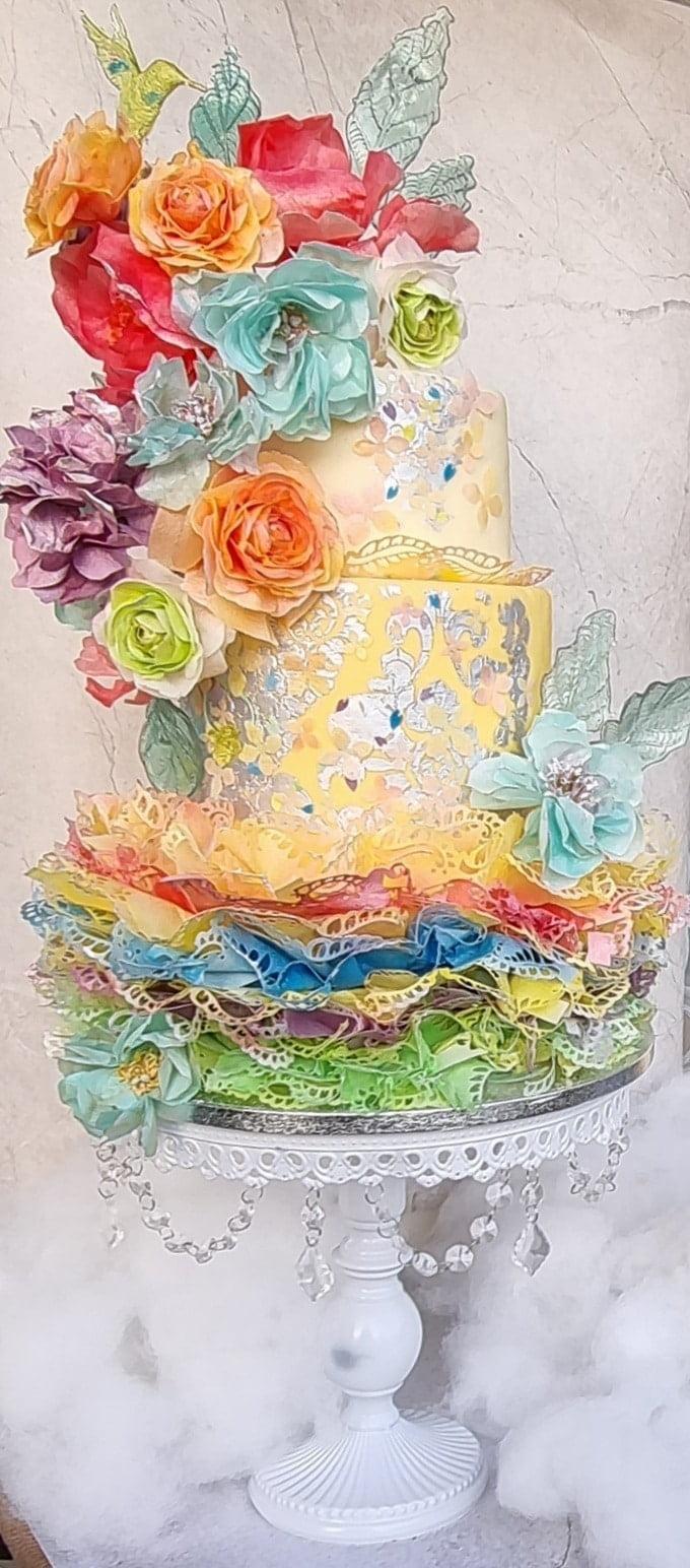 Tort z papieru jadalnego